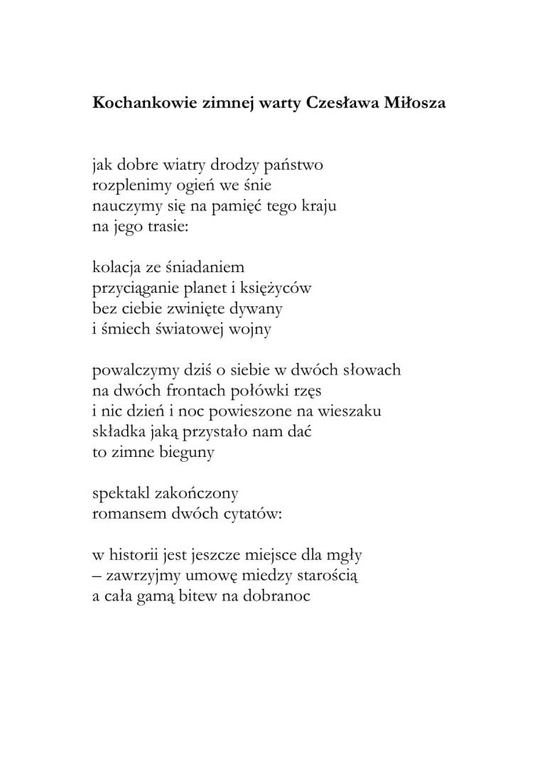 kochankowie Czesława Miłosza